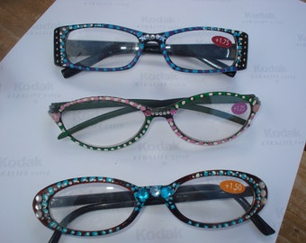 hand painted one of a kind reading glasses