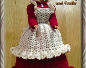 Barbie Fashion Doll 3 pc Red Country Dress and Apron.