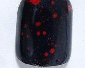 Black  and Red Blood Splatter Nail Art