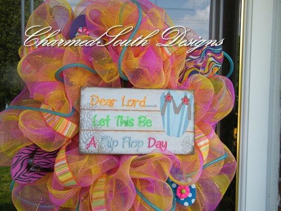 Flip Flop Days Deco Mesh Wreath