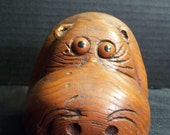 """Reserved for Janet - How """"Wood"""" You Like a Hippo of Your Very Own / Animal Figurine / Carved Wood / Vintage /Kitsch"""