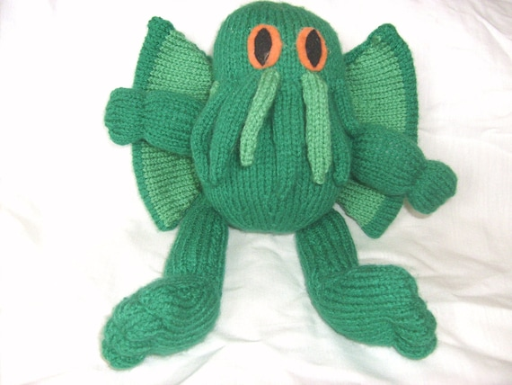 Cthulhu Toy / Monster / HP Lovecraft  / Plush / Knitted Toy