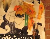 1970s Hippie Floral Maxi Dress Size M