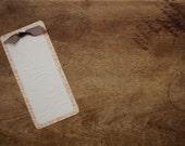 Vintage-Inspired Embossed Handmade Bookmark