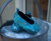 Blue Satin Ballet flat