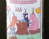 Animal's Tea Party Birthday Card