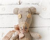 Organic kids toy, Handmade Teddy Bear 100% natural materials, OOAK