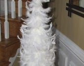 Beautifully Classic White Feather Tree with Rhinestone embellishments & Star Topper