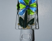 Flower  Fused Glass Night Light