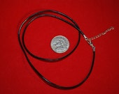 """20"""" Black Leather Pendant Cord with 2"""" extender chain"""