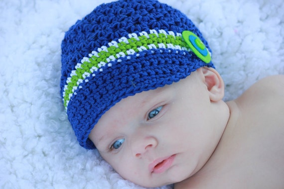 Handmade Newsboy Hat - Crochet - Baby - Toddler - PHOTO PROP - Cotton - Photography Prop