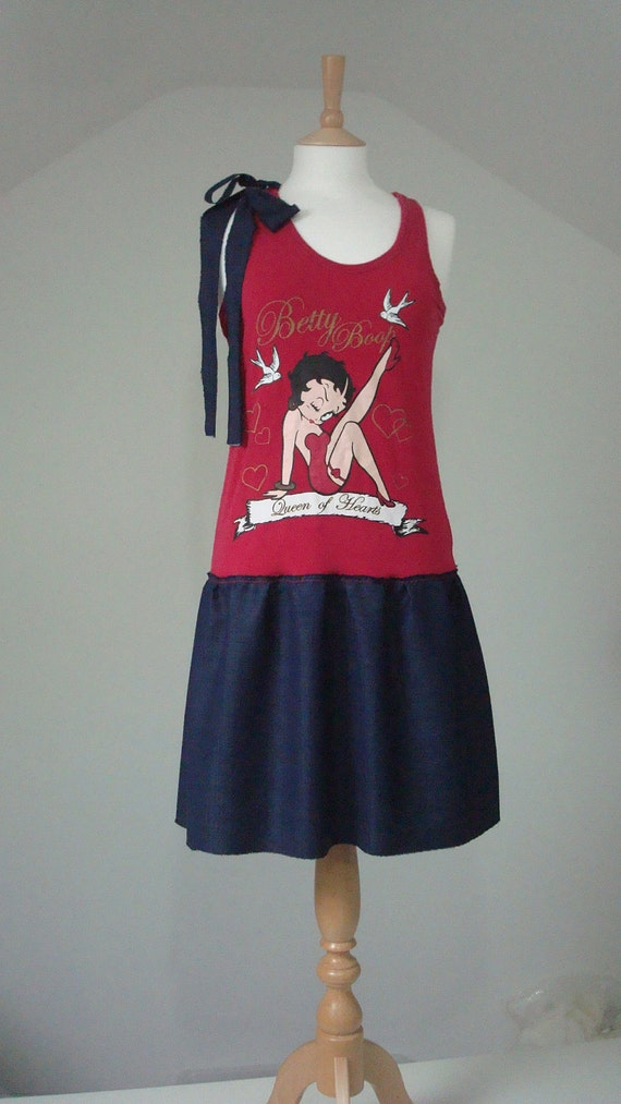 Upcycled Woman's Clothing  Eco Style Little Dress Tunic OOAK