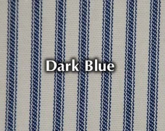 NEW Dark Blue Striped Bed Ticking Fabric Material Per Yard