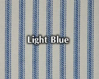 NEW Light Blue Striped Bed Ticking Fabric Material Per Yard