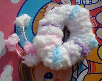 Handmade Angel Cloud PonyTail Holder.n6