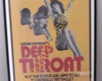 Deep Throat XXX Movie Lobby Card Movie Poster