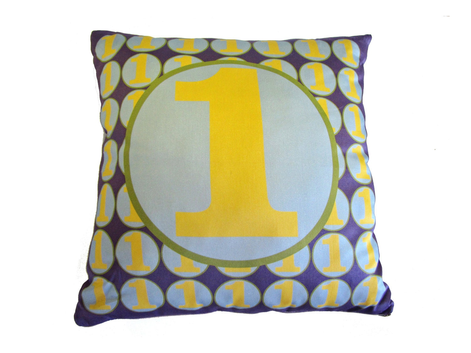 Throw Pillow With Numbers : SALE Monogram Number Pillow Decorative Pillow retro by numpillows