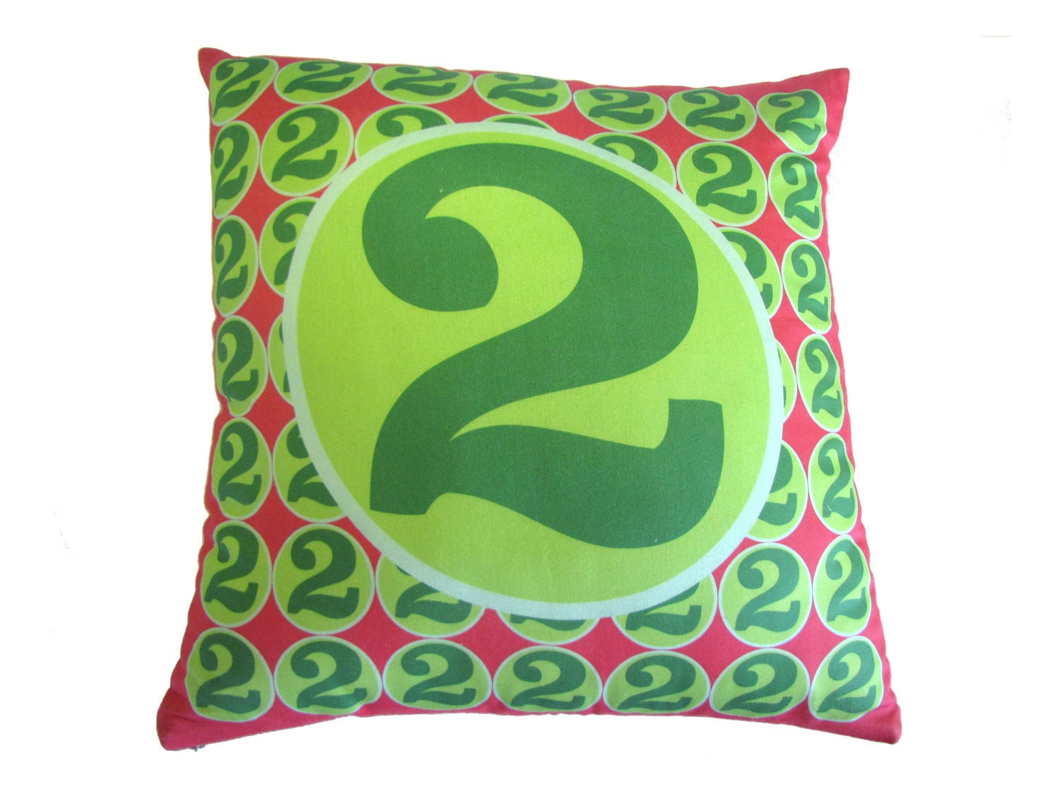 Throw Pillows With Numbers : SALE Monogram Number Pillow Decorative Pillow retro by numpillows