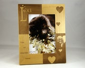 5x7 Engraved Custom Personalized 5 x 7 Kitty Cat Photo Picture Frame