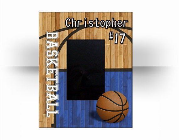 "4x6 Basketball Sports Custom Personalized 4"" x 6"" Photo Picture Frame."