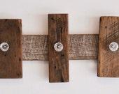 Barn Wood And Glass Knob Coat Rack