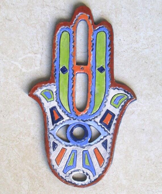Handmade Ceramic HAMSA Wall Hanging