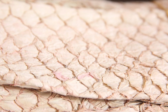 Light Pink Suede Leather Fish Hide for Bookbinding, Journaling, Purses, Cuffs, Heels