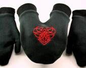 Celtic Heart Fleece SMITTEN,  The Mitten Built For Two.....