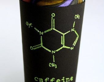 Caffeine Chemical Structure Thermal Lycra Coffee Cozy