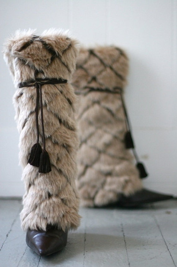 sleek faux fur boot covers and leg warmers