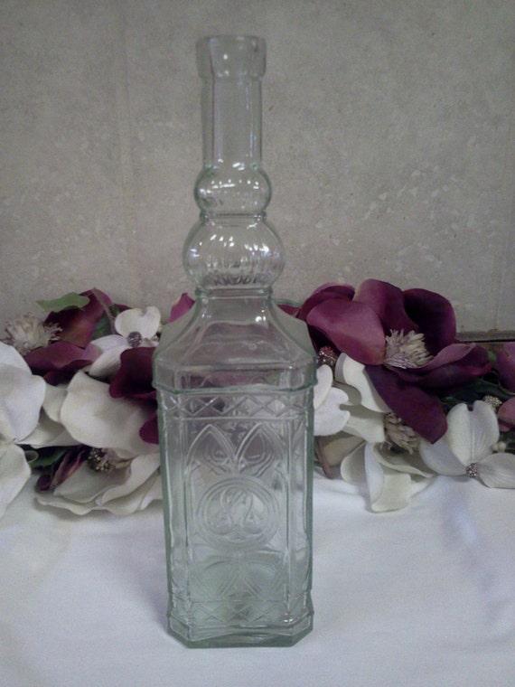 Vintage Clear Glass Bottle