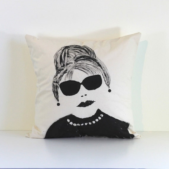 hand painted pillow cover no.1, 16X16