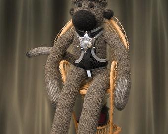 Lawman, the sheriff sock monkey, sockmonkey