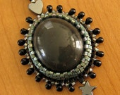 Davis Creek Obsidian Peyote Bezeled Pendant