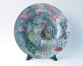 Peacocks Decorative Decoupage Glass Plate