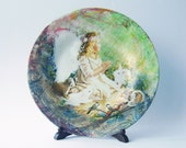 Woodland Fairy Decorative Decoupage Glass Plate gift for women