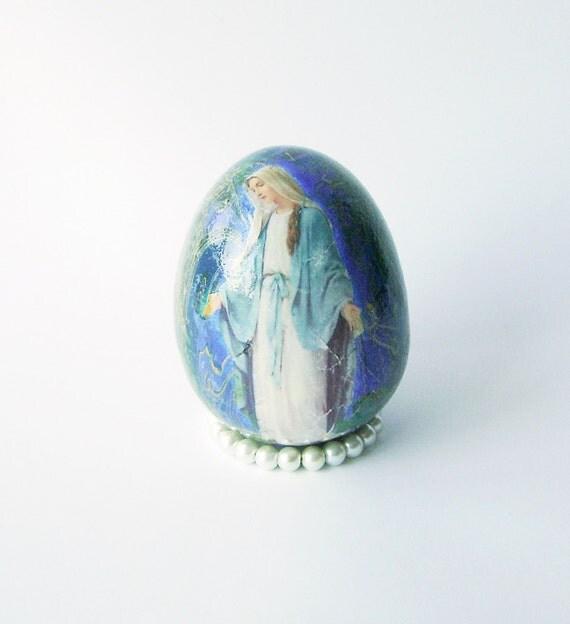 Blue Easter Decorative Ceramic Egg