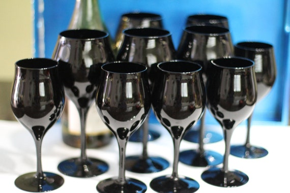 Black Wine Glasses / Goblets
