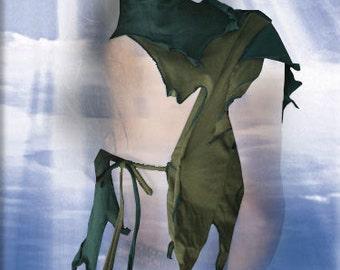 Angel Top -  Haut dos nu gothique tribales