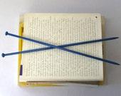 Indigo blue knitting needles gauge  6.5mm / 3 imperial / 10.5 US