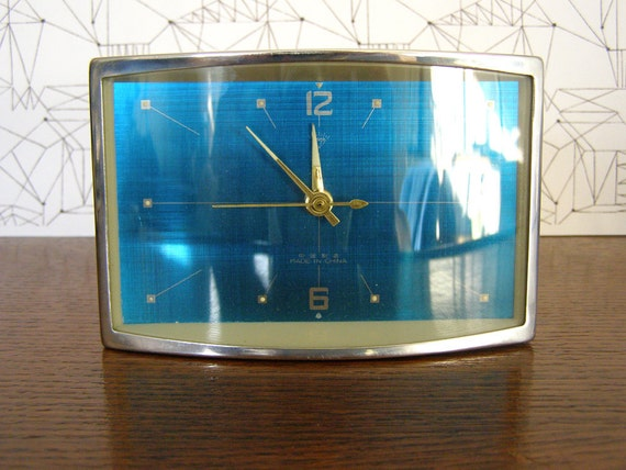 Space-age style 1960's alarm clock