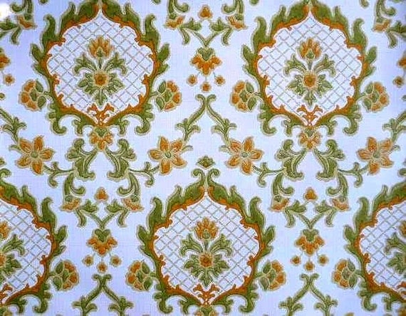 Vintage french baroque wallpaper complete roll for Old french wallpaper