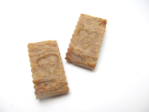 Sweet Pumpkin Scented Hot Process Soap Two pieces 5.8oz