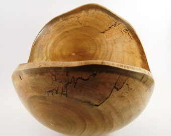 Wood Bowl No.120602 - Natural Edge Melina Wood