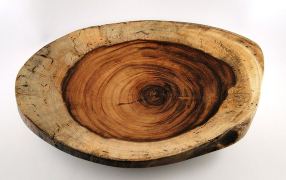 Wood Platter No. 120201 -  Natural Edge Genicero