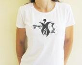 Womens tribal t-shirt, handpainted