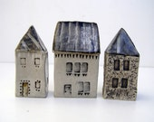 Small blue roofed house.OOAK