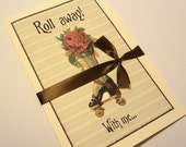 Funny Greeting Card, Steampunk Greeting Card, Vintage Steampunk Card, All Occasions Blank Card
