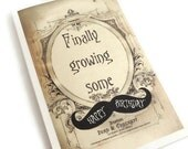 Funny Birthday Card, Funny Mustache Card, Mustache Birthday Card, Vintage Inspired Brown and Beige Card