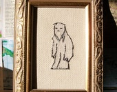 Yeti cross stitch -- Snow Yeti likes you: abominable snowman, cute and friendly bigfoot, Sasquatch